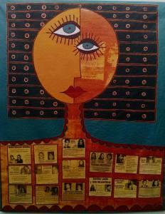 Dipinto di un pittore argentino, in omaggio a desaparecidos