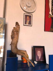 scultura che ci ha donato l'associazione Stefania Quaranta