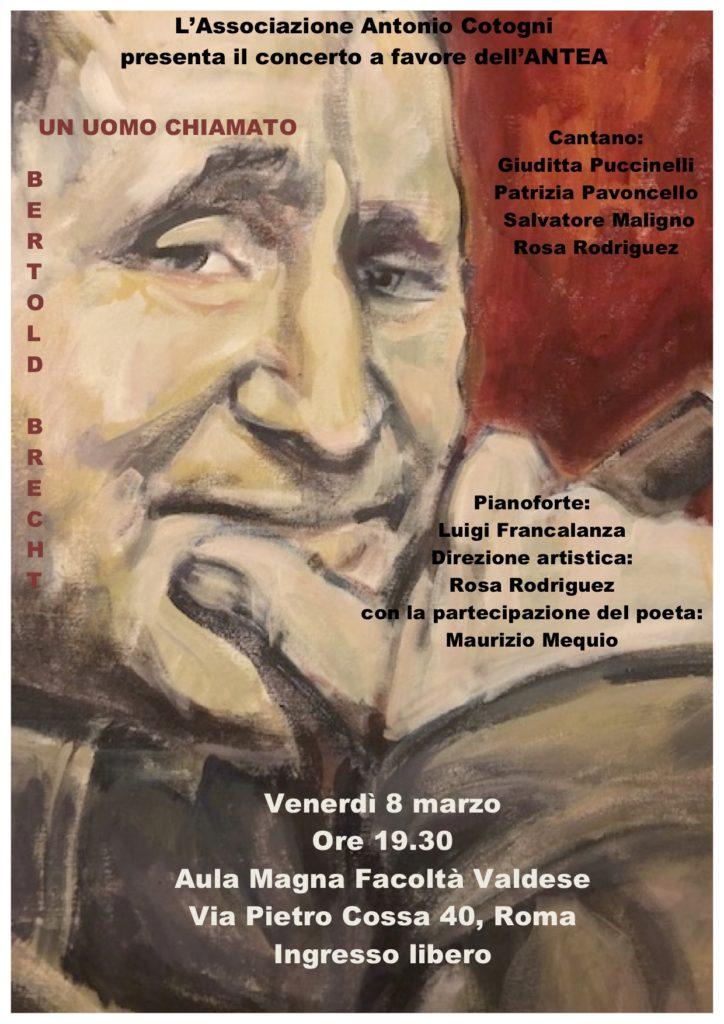 Concerto : Un Uomo chiamato Bertold Brecht